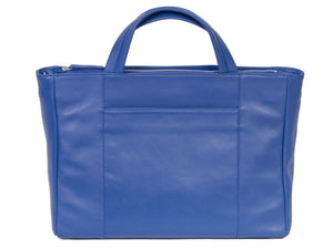 Tote Springbok Handbag in Royal Blue with a Stripe by Sherene Melinda Back