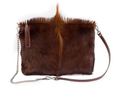 Sandalwood multiway leather clutch and shoulder bag - Haupt Bag