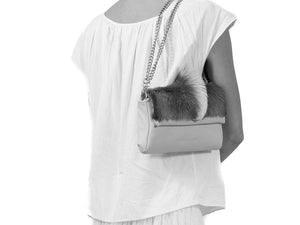 sherene melinda springbok hair-on-hide lavender leather Sophy SS18 Clutch Bag fan context