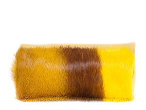 Mini Springbok Handbag in Yellow with a Stripe by Sherene Melinda Top