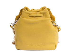 sherene melinda springbok hair-on-hide yellow leather pouch bag back