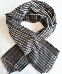 Men's Acccessories - men's woollen soft scarves checks and patterns gifts for him, winter warmers
