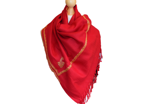 Pashmina embroidered kashmiri Border ladies Scarf luxurious soft silky occasion gift