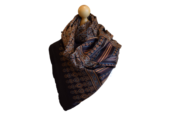 Ahmedabad Silk scarf soft geometrical patterns design gift