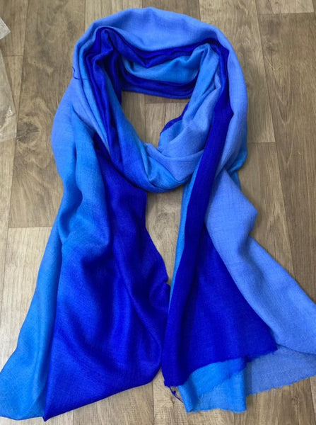 Pashmina Hand made dyed women's Stole scarf soft luxurious occasion gift