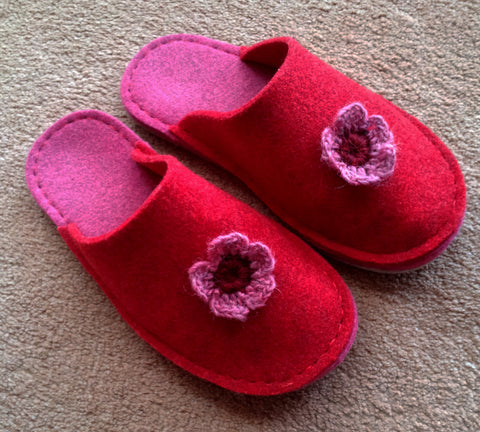 A Joe's Toes slipper kit by Caroline our Slipper of the month