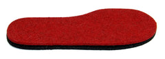 The midsole (for extra cushioning) in red