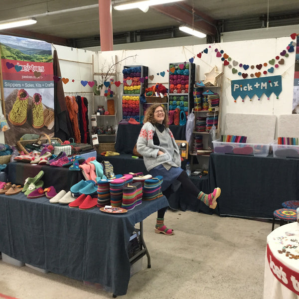 Joe's Toes at Wonderwool Wales 2017 with clogs