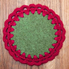 Joe's Toes circle patch with crochet edge