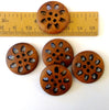 Wooden Buttons - carved - Joe's Toes  - 2