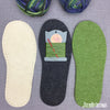 Joe's Toes knitted crossover slipper kit with suede soles