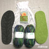 Joe's Toes knitted crossover slipper kit with felt soles