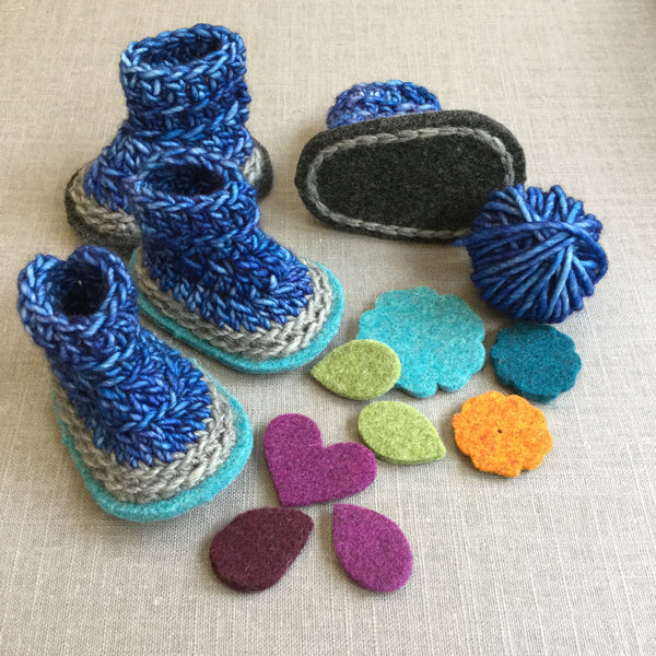 Billie Baby Boots Crochet Kit