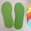 Joe's Toes Crepe Rubber Soles with stitch holes, colour green
