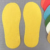 Joe's Toes Crepe Rubber Soles with stitch holes, colour lemon yellow