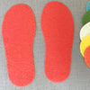 Joe's Toes Crepe Rubber Soles with stitch holes, colour red