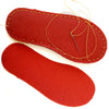 Joe's Toes sew on sole in coral colour natural crepe rubber