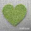 Joe's Toes big heart patch in green thick wool felt with punched holes