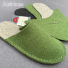 Joe's Toes felt slipper kit in green wool felt