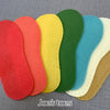 Joe's Toes Crepe Rubber Soles with stitch holes, all colours