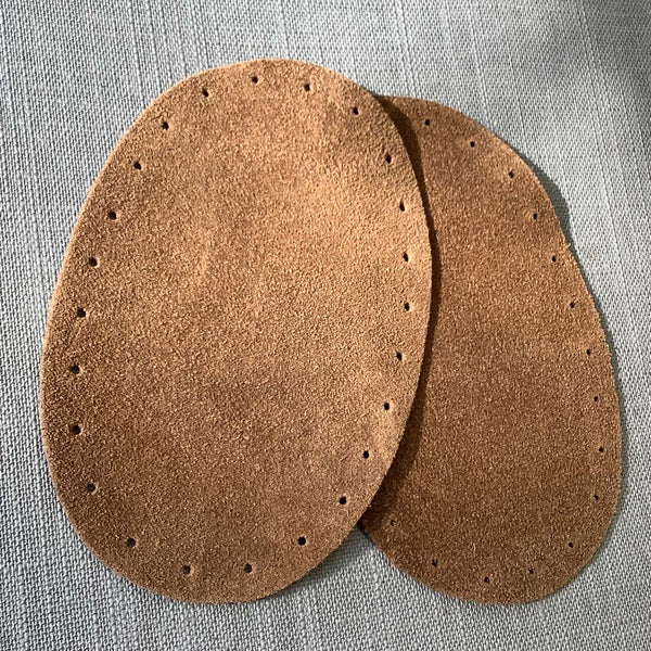 A pair of Joe's Toes Suede Leather Oval Patches - available in 3 sizes