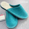 joe's toes felt slipper kit in turquoise wool felt