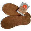 Suede soles for slippers and socks in brown suede