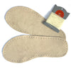 Suede soles for slippers and socks in natural suede