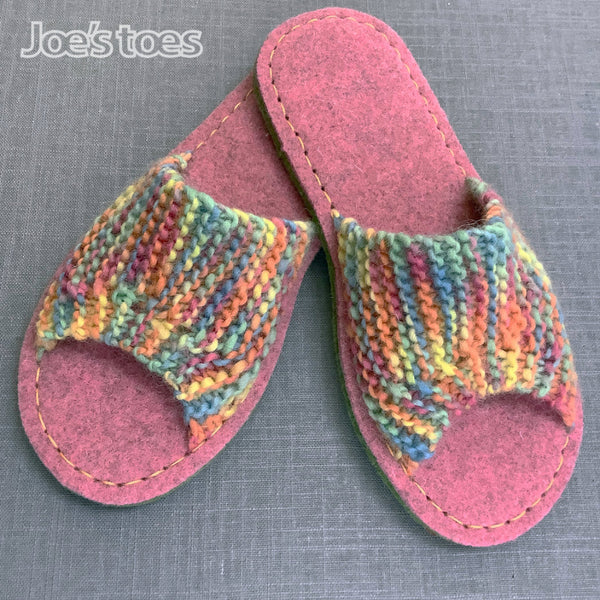 Limited Edition Summer Mules  Knitted slipper kit
