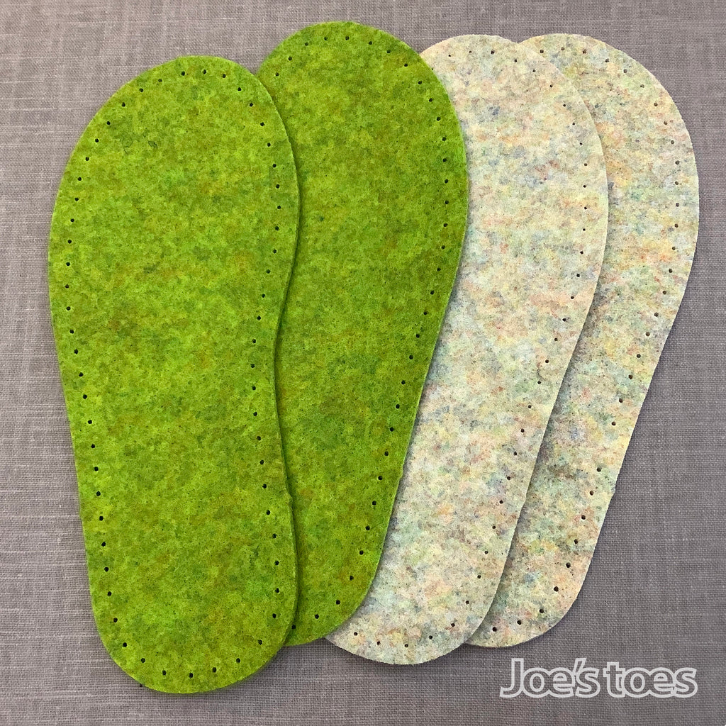 Vegan Friendly Wool-Free Recycled PET Felt Soles and A4 pieces