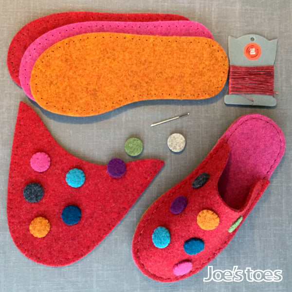 Dotty Slipper Kit in  UK sizes