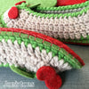 Joe's Toes Cherry crochet slipper kit sole edge detail