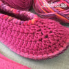 Joe's Toes Sarah Crochet Slippers Fuchsia Mix