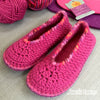 Joe's Toes Sarah crochet slippers in Fuchsia Mix