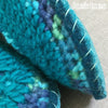Joe's Toes Sarah crochet slipper kit parts in Turquoise Mix close up sole side
