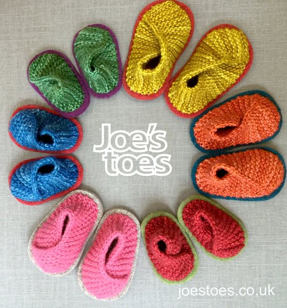 Baby Knitted Crossover Slipper Kit in Merino Worsted