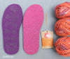Ladies' Cross-Over slipper kit - UK sizes 1 - 12 - Joe's Toes Coral Sky / 1-2 - 8