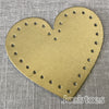 Joe's Toes metallic gold heart shaped patch with stitch holes