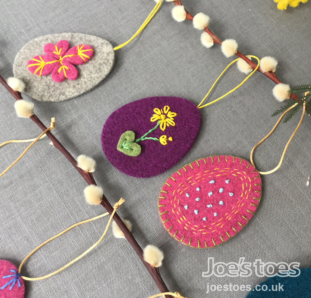 Joe's Toes Plain Felt Eggs
