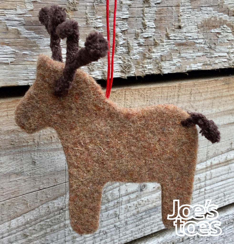 Joe's Toes Felt Reindeer Ornament