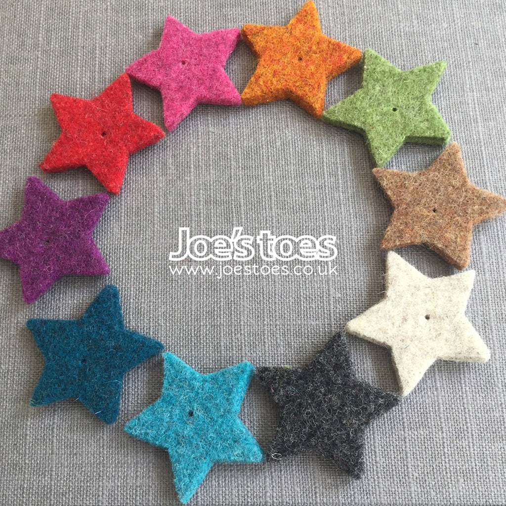 Joe's Toes Stars in Thick Wool Felt