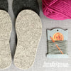 child Crossover Slipper Knit Kit in Pure Wool