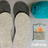 Children's Crossover Slipper Knit Kit in Pure Wool
