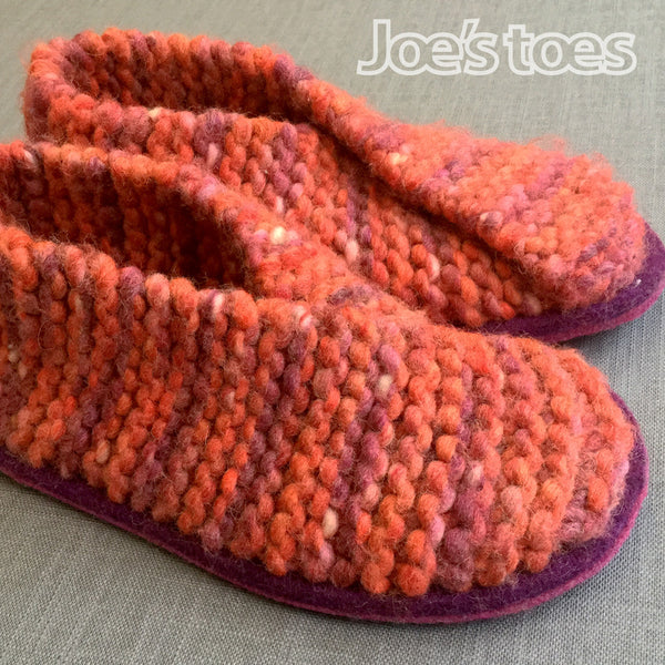 Knitted Crossover slipper kit - UK sizes 1 - 12