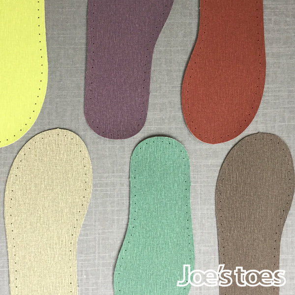 Joe's Toes wipe clean slipper soles in linen look vinyl