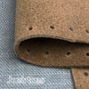 Joe's Toes brown suede slipper soles close up showing punched holes