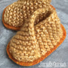 Joe's Toes gold baby slippers in soft sparkle yarn