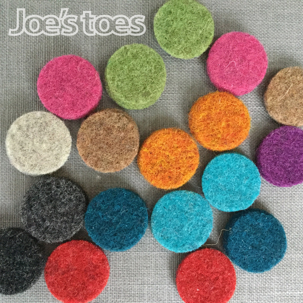 Joe's Toes Felt Spot Trims in Thick Wool Felt
