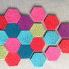 Thick Wool Felt Hexagons - Joe's Toes  - 2