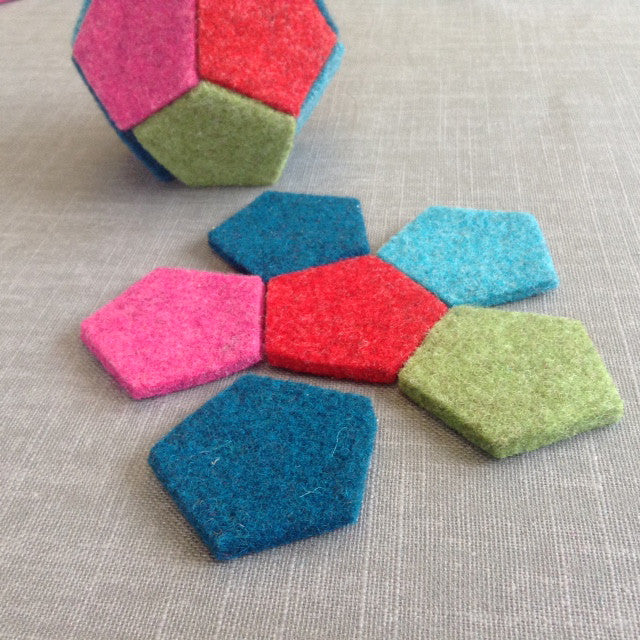 Thick Wool Felt Pentagons - Joe's Toes  - 1